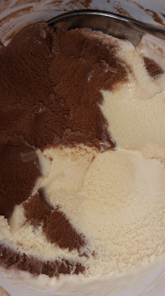 Half Chocolate and Half Salted Caramel.....yes please!